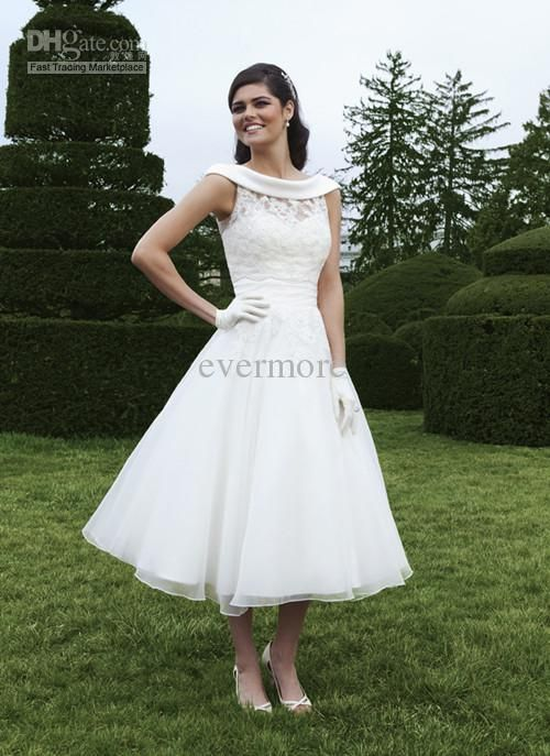 Wholesale Short Bridal Sweetheart Sleeveless A-line Ankle-Length Organza Wedding Dress with Lace Jacket 2013, $120.45/Piece | DHgate