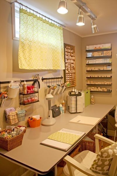 Craft room organization.