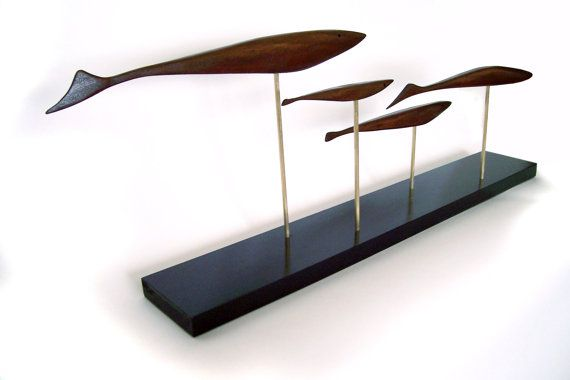 Mid century modern fish sculpture danish by Jetsetretrodesign