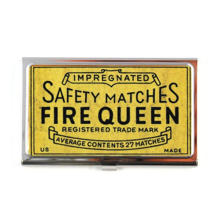 The Quirky. Safety Match Business Card Case
