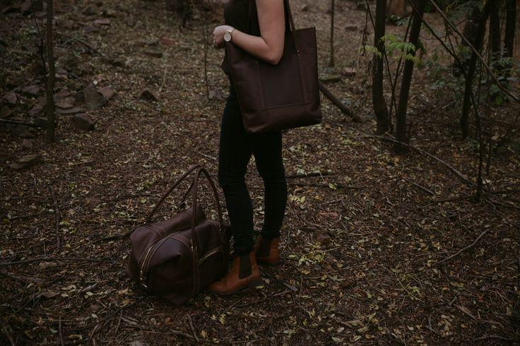 The Delilah tote & duffle bag. Beautifully paired. www.swish-swank.com