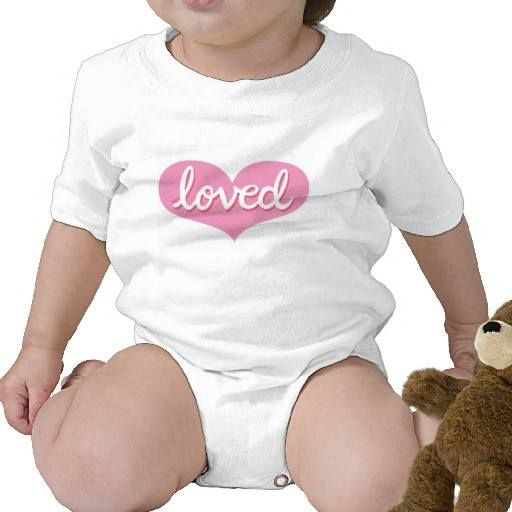 Baby onesie Pink heart design Available in a range of styles and designs