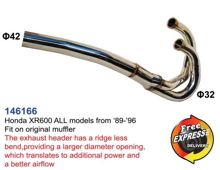 Exhaust Header for Honda XR600 ALL models from '89-'96 Fit On Original Muffler