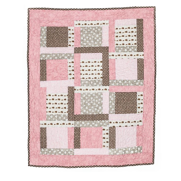 Pink Dimples - Baby Quilt 32x42 $200