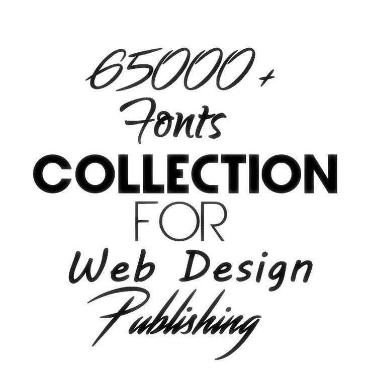 65000+ Fonts for Web Design, Publishing, Presentations, etc - Digital Download