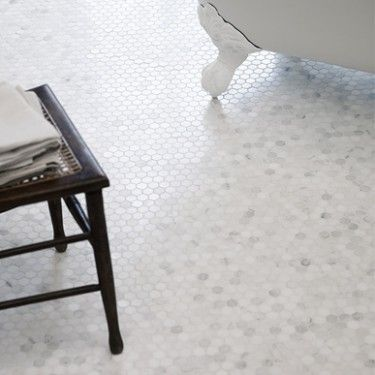 Hexagonal Mosaic, Honed - East Hampton Marble - Wall & Floor Tiles | Fired Earth