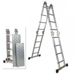 330lb 15 5 Step Platform Multi Purpose Aluminum Folding