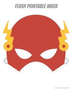 Printable Hero Masks | Flash, Thor, Ironman, Spiderman, Capt. America, Batman.