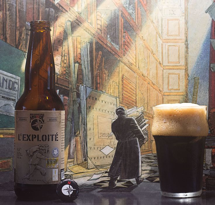 """L'Exploité (Brasseurs du Monde - Québec - Canada) -  via """"Saveur-Biere.com"""" -  - L'archiviste (Les Cités obscures - Schuiten-Peeters) -  """"L'Exploité rappelle l'époque où les bières noires et sucrées ravitaillaient les travailleurs du port de Londres, qui déchargeaient, à la sueur de leur front, des sacs de café moka et de cacao. L'Exploité est brassée avec ces ingrédients et offre des notes de torréfactions complexes, légèrement vanillées. On y goûte des saveurs de café alcoolisé, de…"""