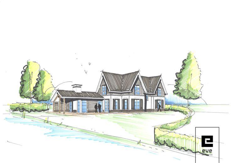 inspiratie schets landelijke villa_EVE Architecten