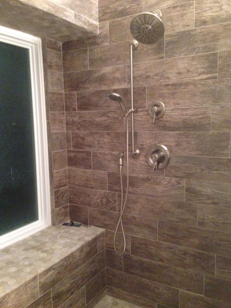 Wood Ceramic Tile From Home Depot For Walk In Master