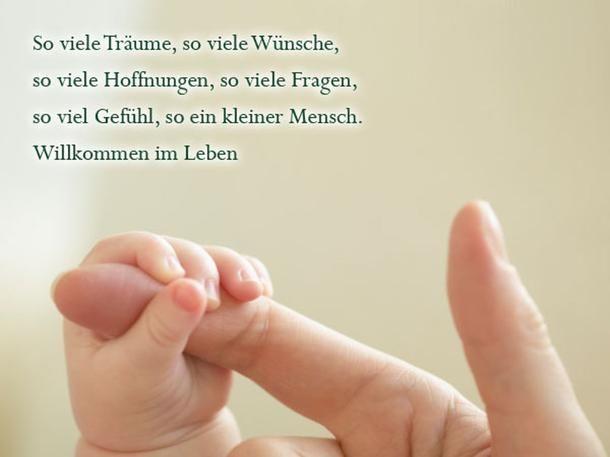 Die schönsten Sprüche zur Geburt: Willkommen im Leben