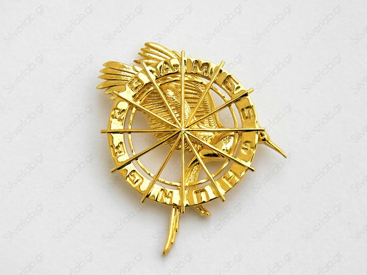 """https://www.etsy.com/listing/108185790/hunger-games-mockingjay-pendant-katniss The Mockingjay pin was Katniss Everdeen's tribute token in the 74th and 75th Hunger Games. Alternate versions of it are featured on the cover of each of the three books. The Mockingjay pin becomes a symbol of the rebellion in """"Hunger Games - Catching Fire"""" after Katniss wins the Games by defying the Capitol."""