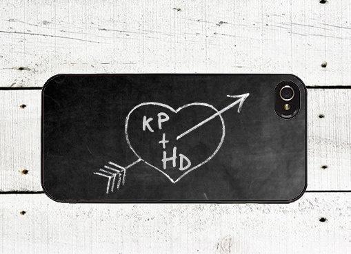 Personalized Chalkboard iPhone Case -Valentine's Day Cell Phone Case - iPhone 5 Case - iPhone 4,4s - Love. $16.00, via Etsy.