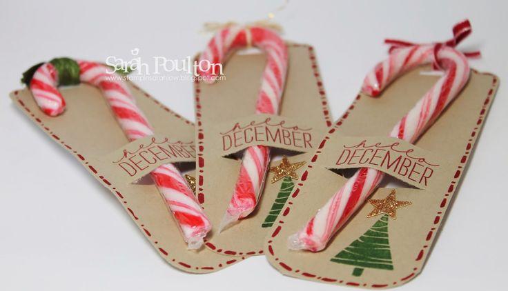 Stampin' Sarah!: A quick Candy Cane December Wonder Tag Swap from Stampin' Up! UK Demonstrator Sarah Poulton