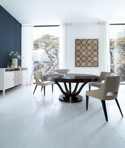 Table VICTORIA designed by Tiziano Bistaffa with chair WALDORF designed by Lorenzo Bellini #SELVA #furniture #diningroom