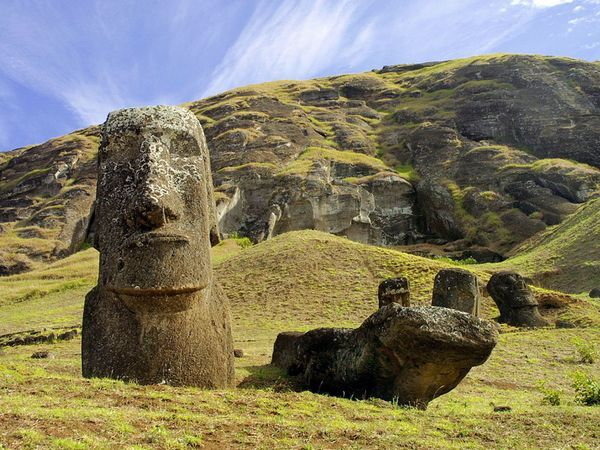 Chile: Easter Island's silent stone figures are a monument to the seafaring skills and unique culture of ancient Polynesian peoples.