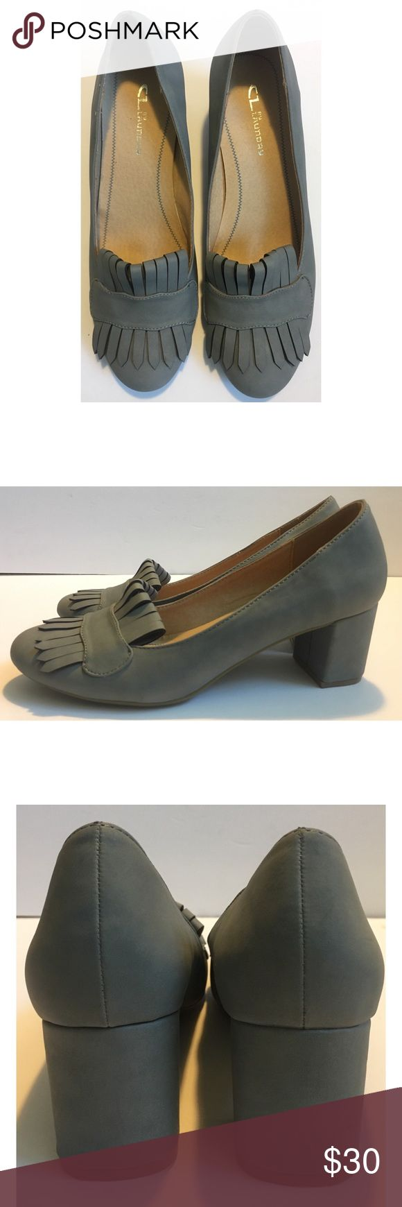New CL By Laundry Gray Ruby Slipper Heels Size 7.5 New without tags/ Size 7.5 Chinese Laundry Shoes Heels
