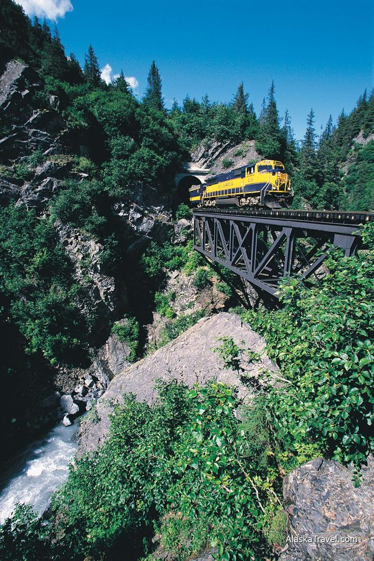 Alaska Travel Photos > Alaska Railroad > Bridge Crossing