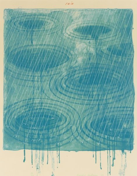 David Hockney, Rain, 1973