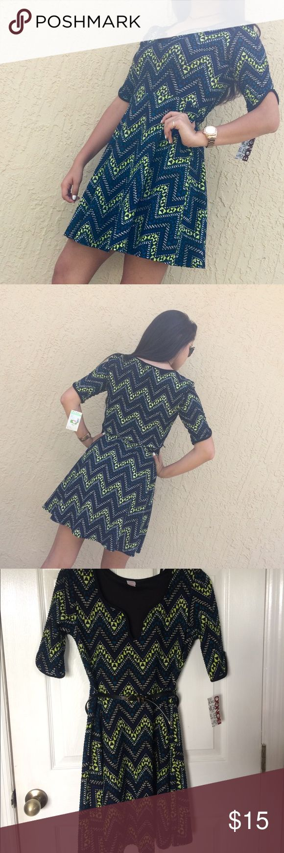 Bongo Aztec print dress Perfect for date night or just a girls night out super flirty and cute! BONGO Dresses