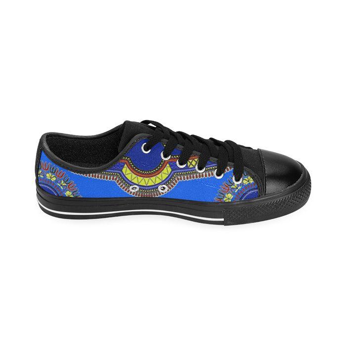 blue Dashiki Men Canvas Shoes