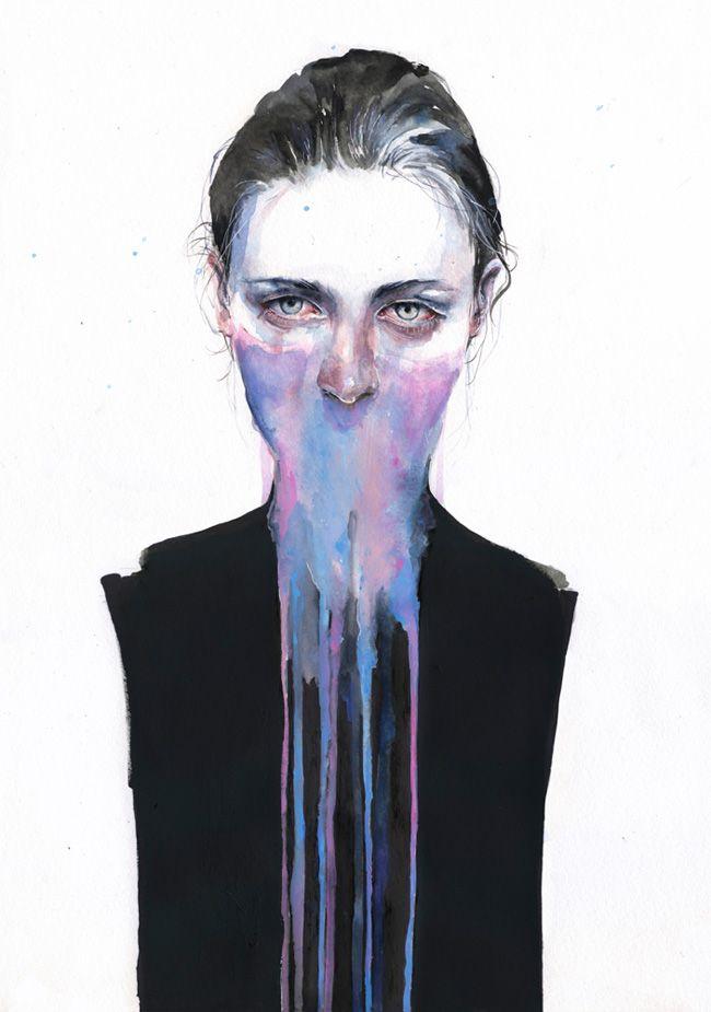 Agnes Cecile, é uma artista de Roma, Itália que cria incríveis retratos com aquarela. Confira!
