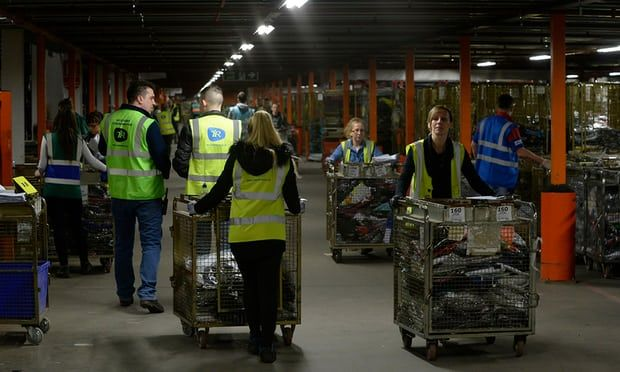 Inside a Sports Direct warehouse