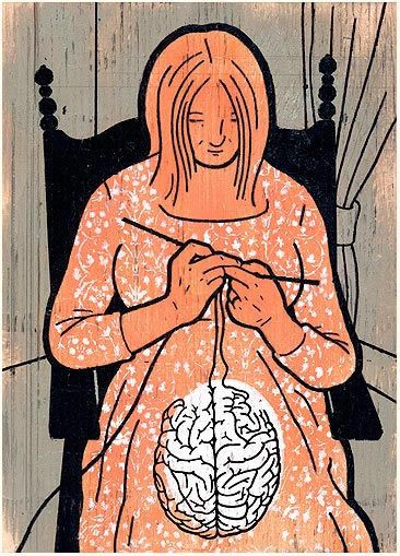 Brain knitting - illustration by Dan Page