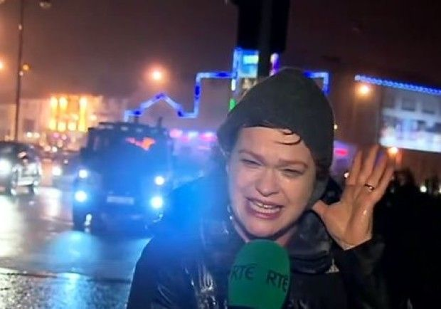 """RTE reporter Teresa Mannion has revealed she had no idea she was screaming down the microphone during her weather report"""