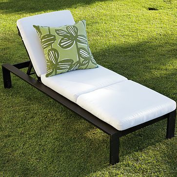 Outdoor Single-Lounger Cushions #westelm