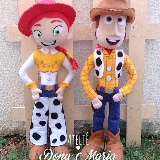 Completamente apaixonada   Woody e Jessie Toy Story  #feltro #woody #jessie #toystory