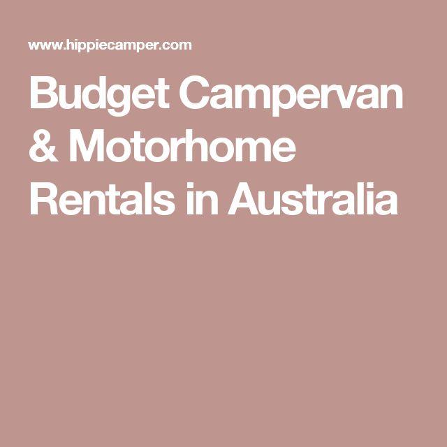 Budget Campervan & Motorhome Rentals in Australia