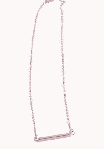 As Seen On Rihanna Horizontal Bar Necklace Gold