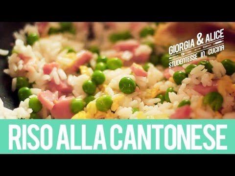 Riso alla Cantonese | Ricette facili e veloci | Giorgia e Alice studentesse in cucina