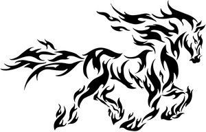 tribal-flamed-horse-tattoo.jpg 300×192 pixels grandpa and grandmas favorite animal <3