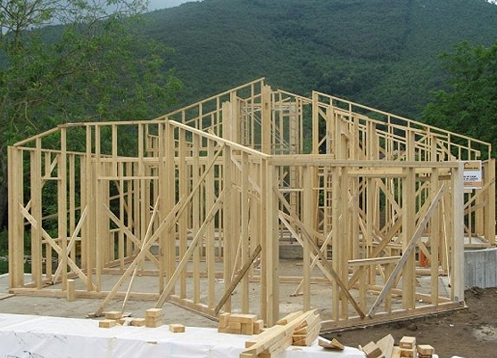 casa con telaio #legno