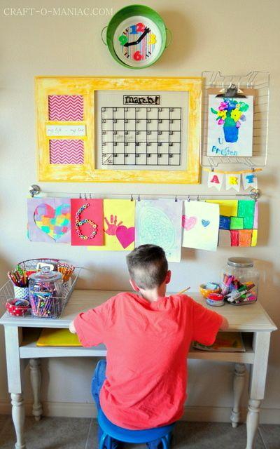 DIY Kids Art Station #DIY #Kidsartstations #kidshomeworkstations