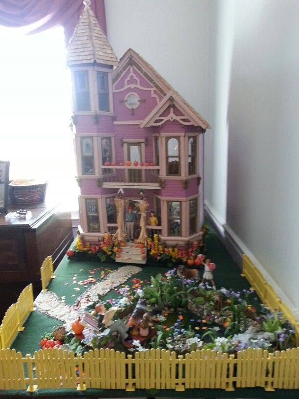 Landscaping well underway at the Victorian dollhouse. Welcome autumn!