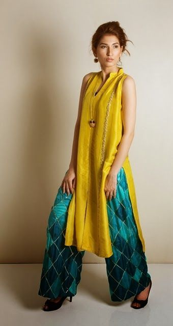 Cool Semi Formal Dresses Kaam Asia Women's Silk Kurtas Collection-14 | Semi Formal Silk Kurtas Design...