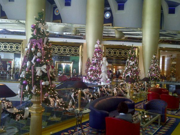 Burj Al Arab at Christmas time