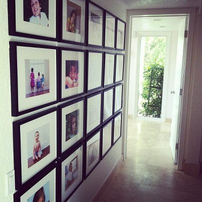 Different Size Picture Frames Wall Ideas