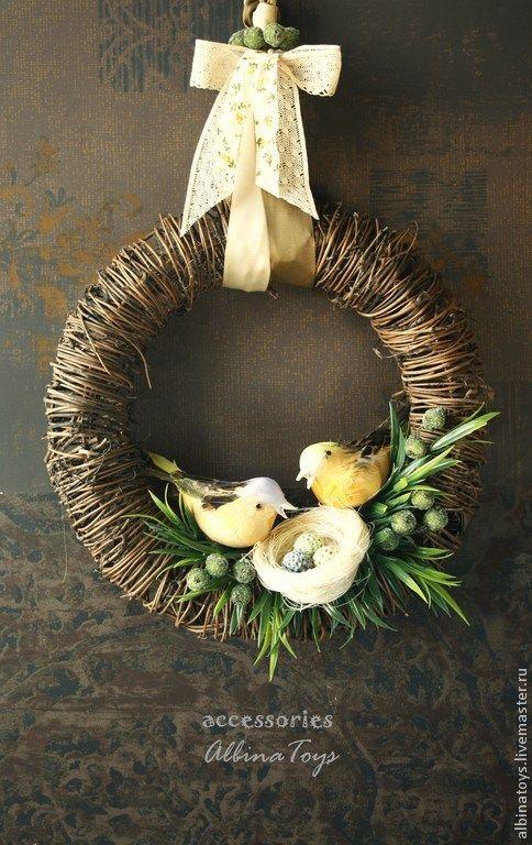 Интерьерный пасхальный венок 1 - венок,интерьерное украшение,интерьерная композиция