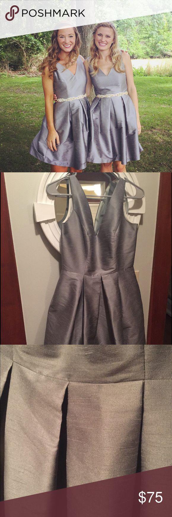 The 25 best lula kate ideas on pinterest homemade wedding light gray silk bridesmaidwedding guest dress ombrellifo Gallery