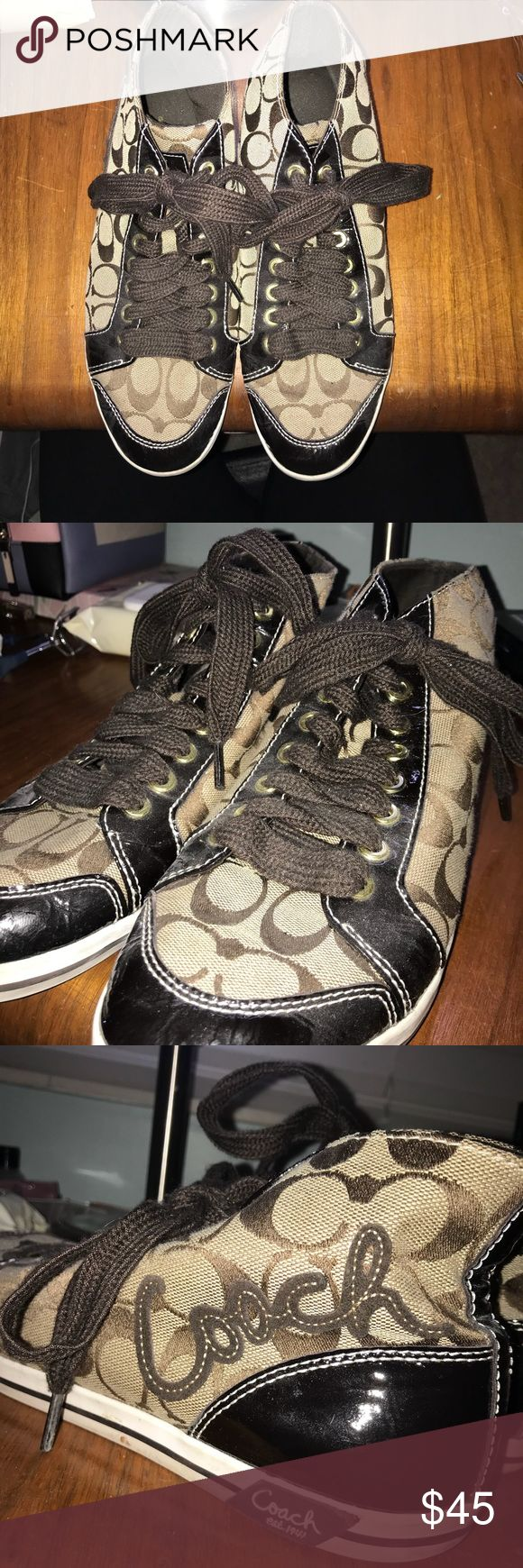 COACH SNEAKERS Vintage Coach sneakers with hip-hop vibes. They're in pretty great condition Coach Shoes Sneakers