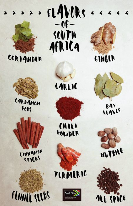 Take your tastebuds on a culinary adventure! Combine these spices for a flavor that's straight out of South Africa.