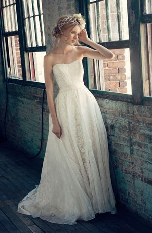 Sweetheart A-Line Wedding Dress  with Natural Waist in Lace. Bridal Gown Style Number:32733826