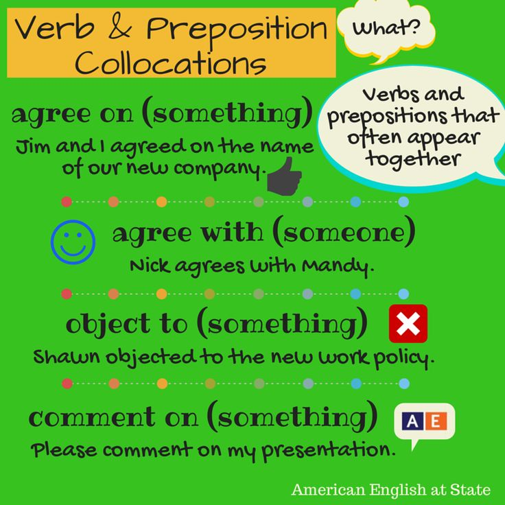 """Some words go together better than others. A collocation is just that: a combination of words that are commonly used together. For example, the verb """"ask"""" is often used with the preposition """"for"""": I asked for help. These combinations can sometimes be difficult for English language learners. Check out the first of our collocations graphic! #AmericanEnglish"""