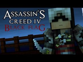 Minecraft Animation : ASSASSINS CREED 4! (Sky Edition)