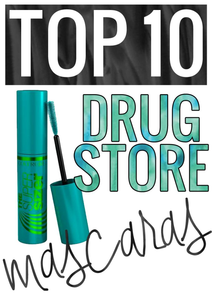 The TOP 10 Best Drugstore Mascaras. Love this list!